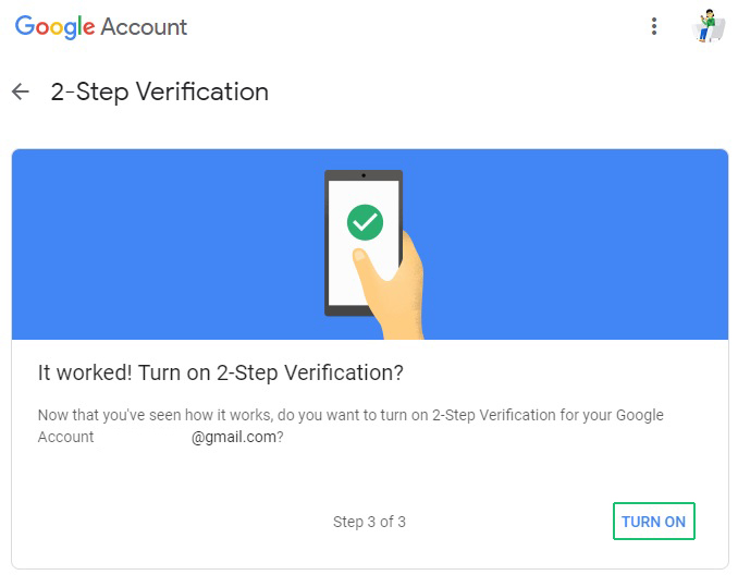 Secure your account with two-step authentication