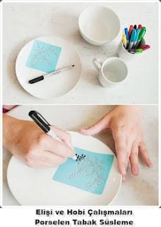 Porselen Tabak Süsleme Yapımı, Resimli Açıklamalı 1