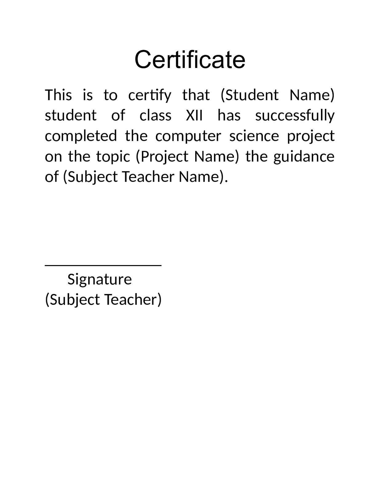 comp science projects