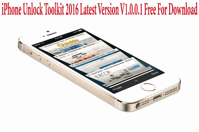 iPhone Unlock Toolkit 2018 Latest Version V1.0.0.1 Free Download