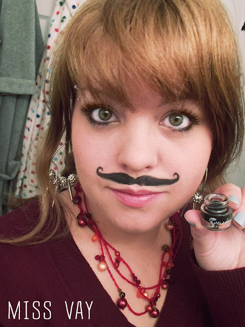 Annabelle Movember Miss Vay Moustache