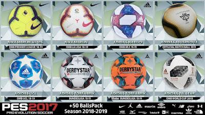 PES 2017 New Ballpack 2019 Season 2018/2019