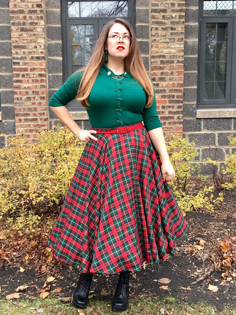 christmas pinup outfit circle skirt