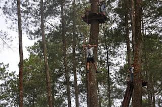 Uji Nyali Anda di Outbound Treetop Cikole Lembang Bandung - Tripoutbound