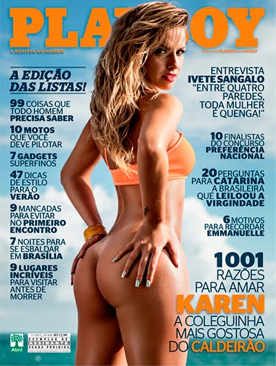 baixar Karen Kounrouzan   Revista Playboy (scans) download