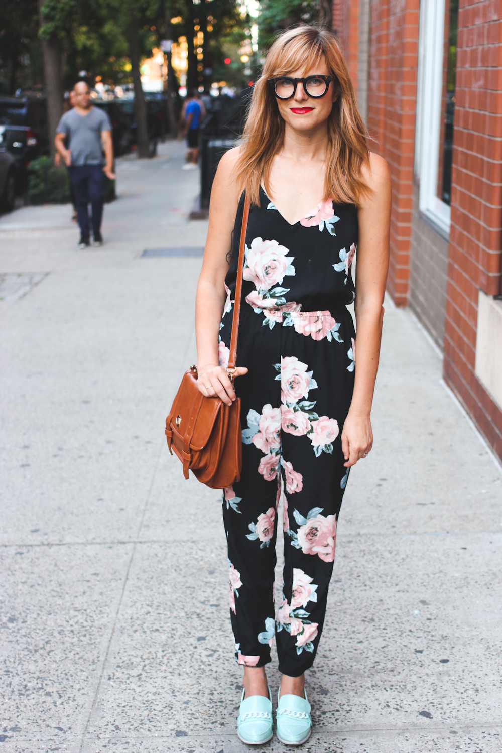 floral jumpsuit, nyc fashion blogger, fashion blogger nyc, style blogger, polette glasses