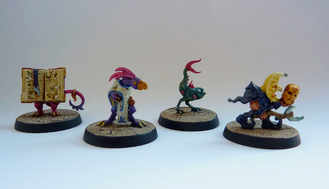 Familiars from Warhammer Quest: Silver Tower - Pug, Blot, Tweak and Slop.