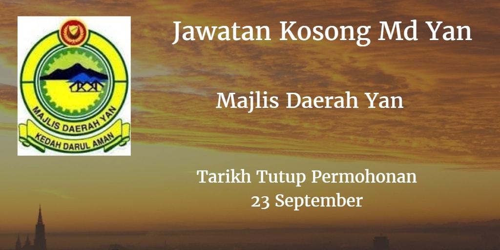 Jawatan Kosong Md Yan 23 September 2016