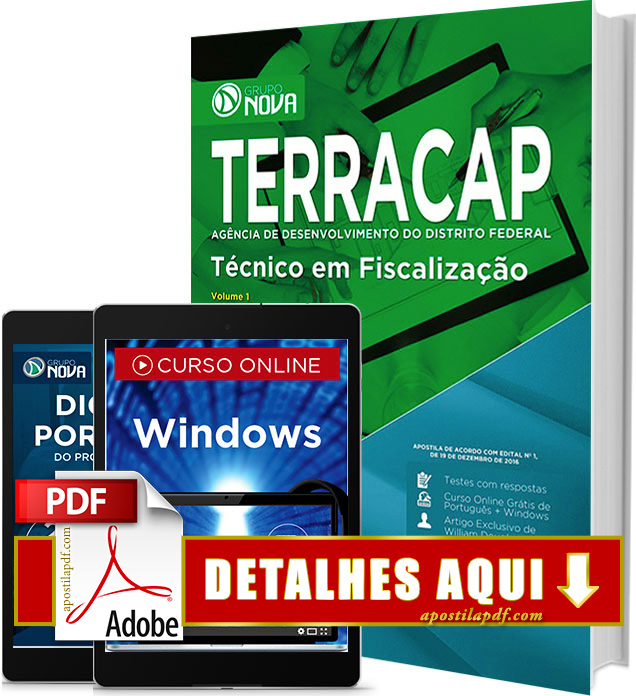 Apostila TERRACAP 2017 PDF Impressa Técnico em Fiscalização