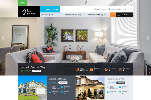 Top 5 FREE Real Estate Powerful Responsive WordPress Theme