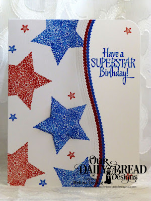 Our Daily Bread Designs Stamp Set: Superstar, Our Daily Bread Designs Custom Dies; Leafy Edged Borders, Double Stitched Stars