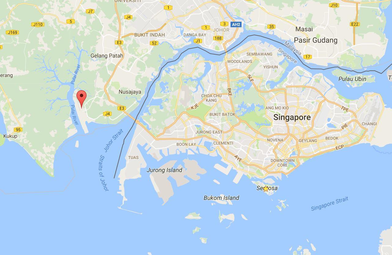 Tuas singapore mapwild shores of singapore johor oil spill wild shores of singapore johor oil spill affecting port gumiabroncs Images