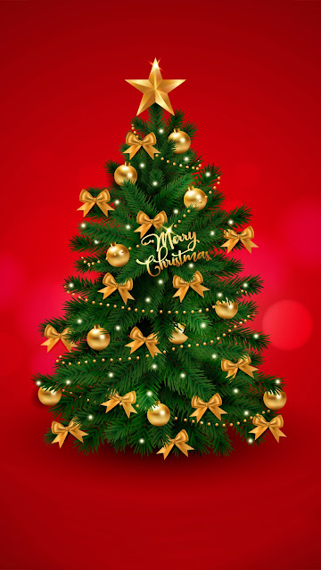 christmas tree wallpaper phone