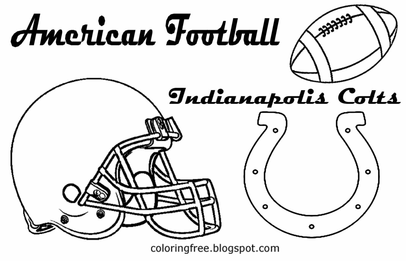 Indianapolis colts coloring pages