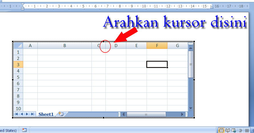 Cara memasukkan tabel excel ke halaman kerja word raumus arahkan kursor mouse seperti yang ditunjukkan oleh tanda panah merah dalam gambar di atas nah yang paling penting dalam tabel itu kamu bisa menjumlahkan ccuart Gallery