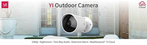 YI Outdoor Security Camera, Wireless IP Waterproof Cloud Cam