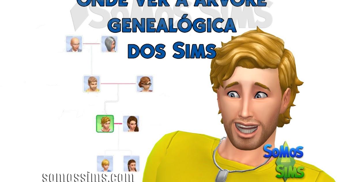 onde ver a Árvore genealógica dos sims no the sims 4 somos sims