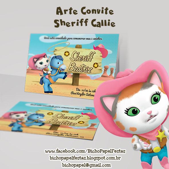 Arte Convite Sheriff Callie xerife