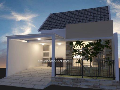 Desain rumah mungil satu lantai