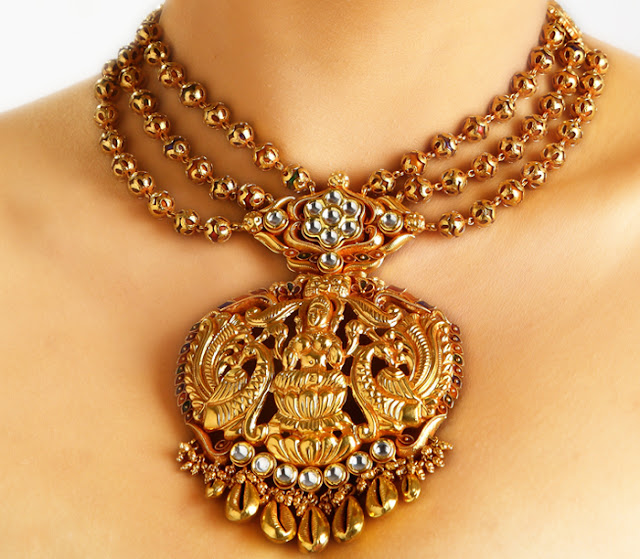 Pearl Jewellery Necklace >> Indian Jewellery and Clothing: Divine temple jewellery ...