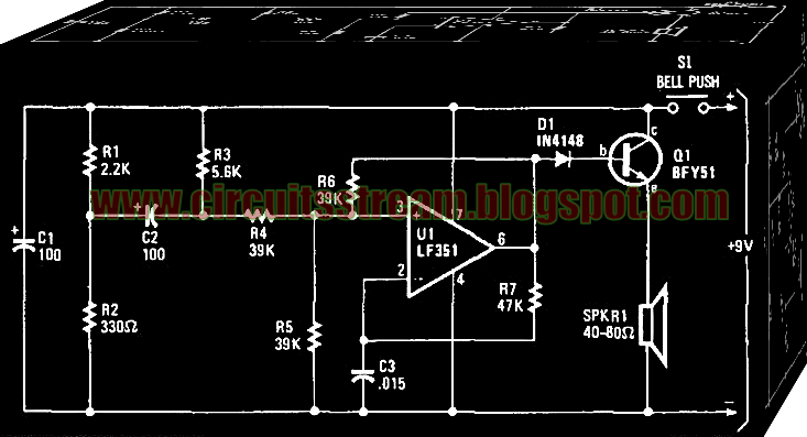 Digital Electronic Door Buzzer Circuit Diagram