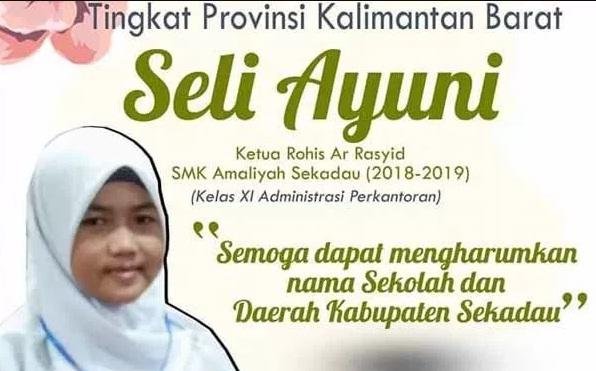 Mewakili SMK Amalaiyah Sekadau, Ketua Rohis Ikut Lomba Keterampilan Siswa Tingkat Provinsi Kalbar