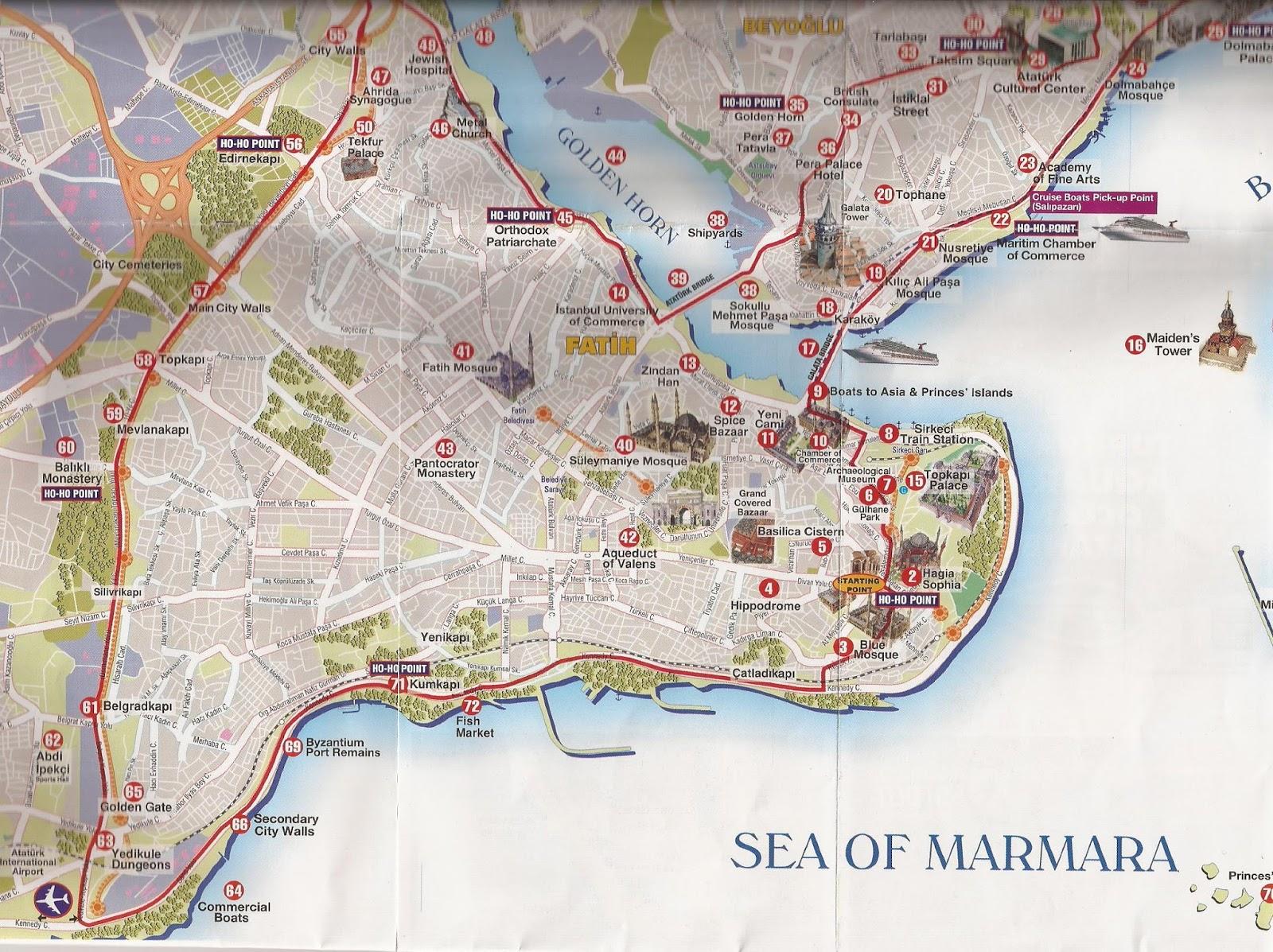 mapa de istambul Minhas Viagens: Mapa de Istambul mapa de istambul