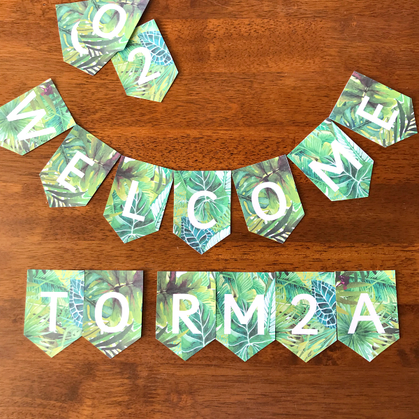 Editable Tropical Theme Bunting | you clever monkey