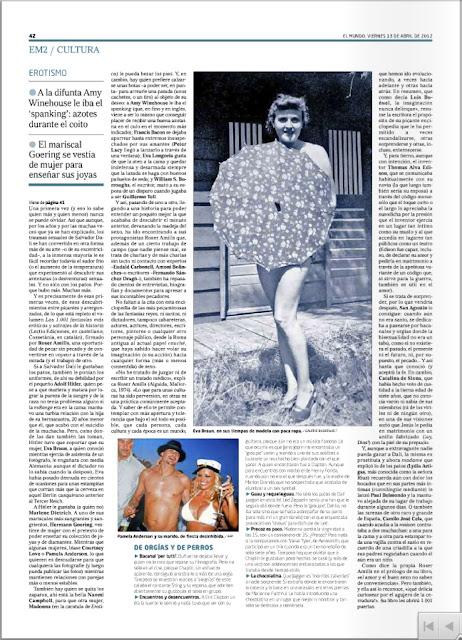 Reportaje en EL MUNDO | Núria Cuadrado entrevista a Roser Amills por su libro 'Las 1.001 fantasías...' Lectio Ediciones 2012