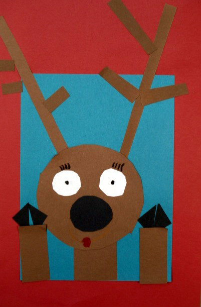 rudolph craft ideas a faithful attempt reindeer at the window collage 2857