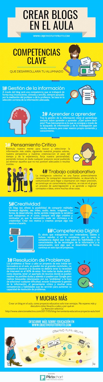 Infografia proyecto educativo y las competencias que desarrolla