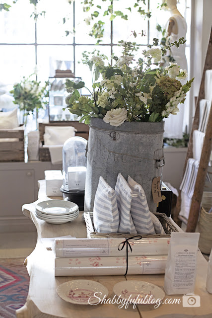 This table centerpiece from Cabbage & Roses shop is the perfect shabby chic style for a home like mine.