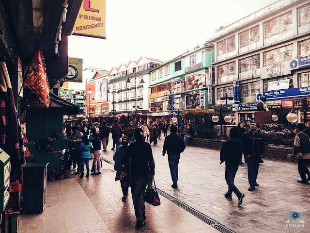 People on street at MG Road Gangtok Sikkim