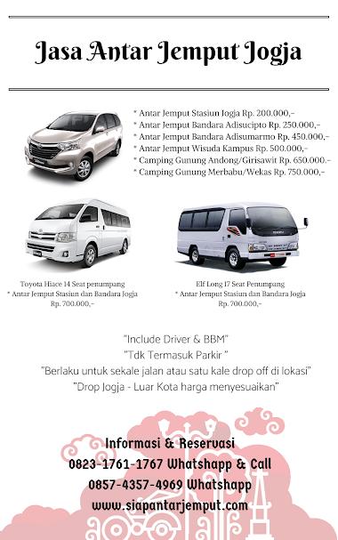 Jasa Antar Jemput Yogyakarta || Antar Jemput Jogja