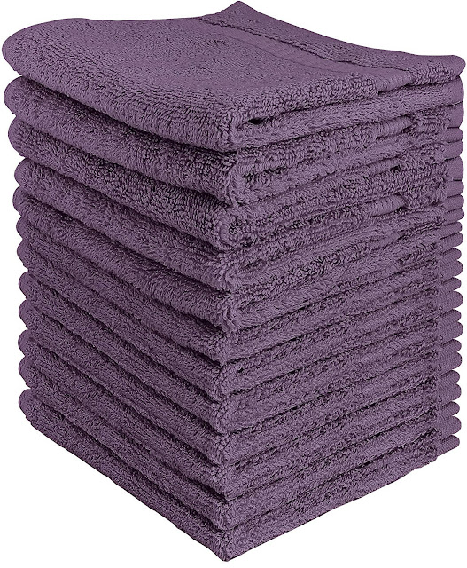12 Pack: UtopianLuxurious Cotton Soft Washcloth Towels