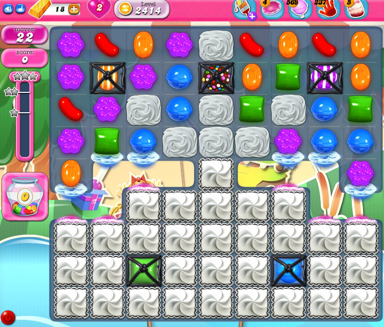 Candy Crush Saga level 2414