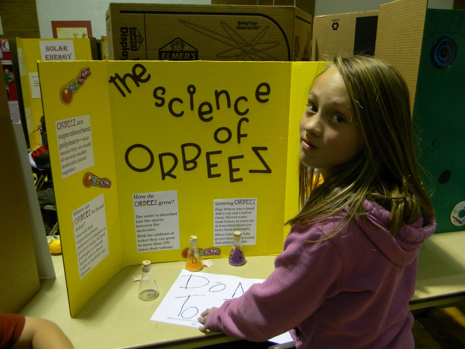 5th Grade Winner, Brinley, did a fabulous experiment with ...   5th Science Projects