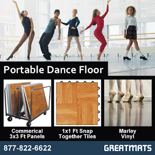 Greatmats portable dance floor infographic