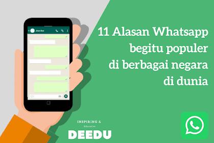 11 Alasan Whatsapp menjadi aplikasi populer di berbagai negara dunia
