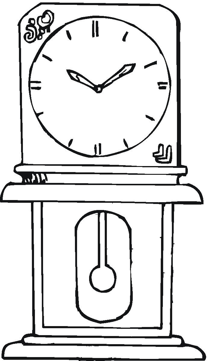 картинки раскраски часов разной формы предложим всего один