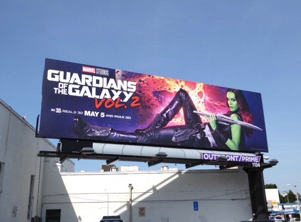Guardians of the Galaxy 2 Gamora billboard