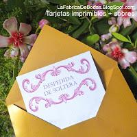 Diseñador tarjeta despedida de soltera te  bridal shower rosado con sobre dorado economicas