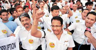 Air India pilots agitate