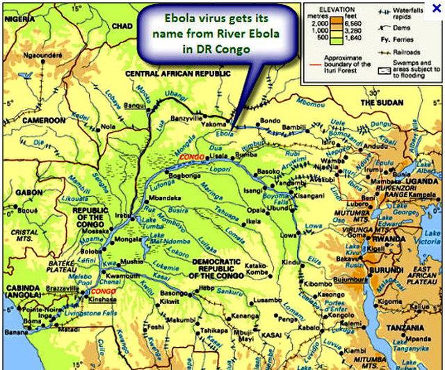 Ebola, ilk kez 1976'da Sudan'ın Nzara ve KDC'nin Yambuku kentlerinde eş zamanlı iki salgına yol açtı.