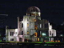 Atomic Dome at night -- Hiroshima Prefecture Industrial Promotion Hall, built 1915, Hiroshima-Japan