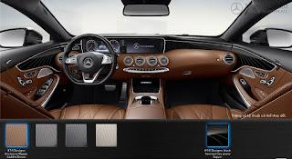 Nội thất Mercedes S500 4MATIC Coupe 2018 màu Nâu Saddle 974