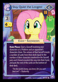 My Little Pony Stay Quiet the Longest The Crystal Games CCG Card