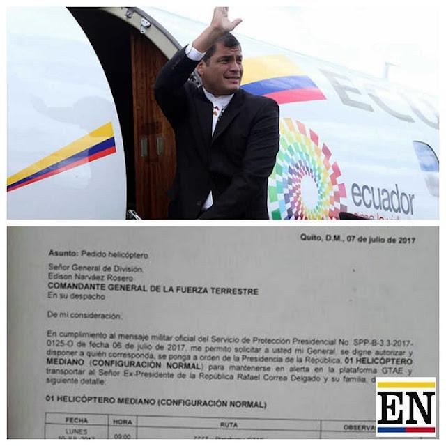 Rafael Correa fugó del pais