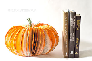 recycled book pumpkin halloween decorations anthology on main etsy