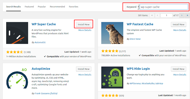 Cara Mempercepat Website WordPress Dengan Plugin WP Super Cache